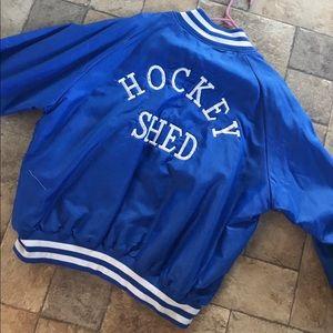 Vintage 80's Nylon Hockey Jacket